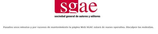 Página de la SGAE