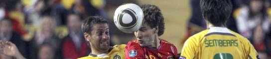 España vence a Lituania con tres goles de cabeza y ya suma seis puntos  (Imagen: J. M. GARCÍA / EFE)