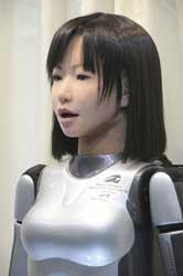 <p>Androide con aspeto humano presentado en Jap�n.</p>