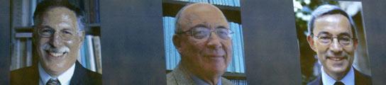 Los profesores Diamond,  Mortensen y Pissarides, Nobel de Economía 2010  (Imagen: EFE)