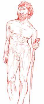 <p>Recreación del homínido de Atapuerca.</p>