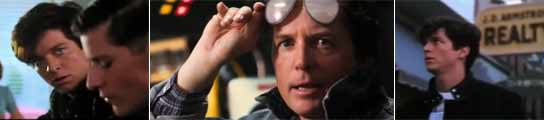 Eric Stoltz  Michael J. Fox como Marty McFly