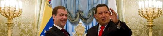 Chávez y Medvédev