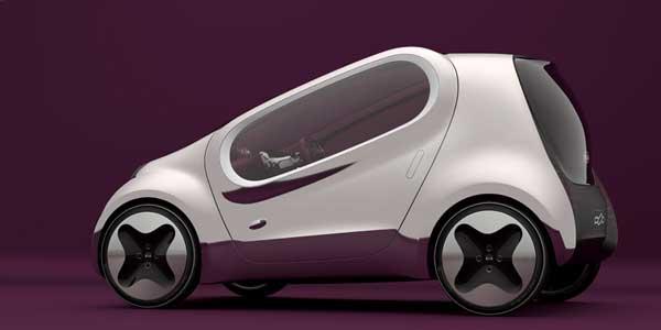 Novedades en el Salón del Automóvil de París. El novedoso Kia POP, presentado en el Salón del Automóvil de París.