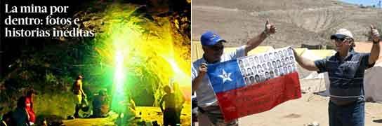 Publican fotos inéditas de los mineros atrapados y estos se hartan de la prensa  (Imagen: LA TERCERA / EFE)