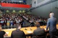Medio millar de padres acuden a la jornada de puertas abiertas de la Universidad de Murcia
