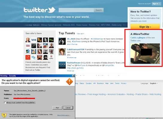 Imitación de Twitter