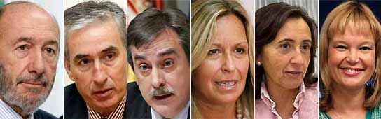 Cambios en el Gobierno de Zapatero