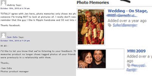 Facebook elimina la opción que mostraba aleatoriamente fotos de tus 'ex'