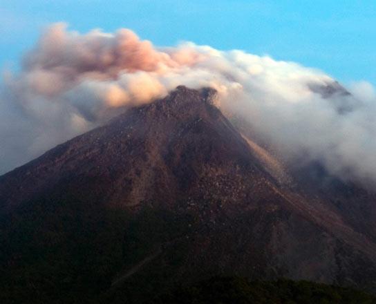 Volcán en Java