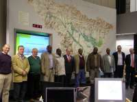 Una delegación del Gobierno de Kenia visita la Confederación Hidrográfica del Ebro y el embalse de Rialb (Lérida)