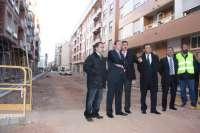 Pedro Sanz ha visitado las obras de Paseo de la Constitución y de la Plaza de España en Arnedo