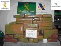 Intervienen más de 600 kilos de hachís en una furgoneta que embarcaba en el ferry desde Melilla