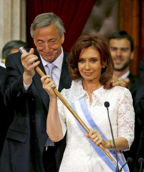 Néstor Kirchner y Cristina Fernández