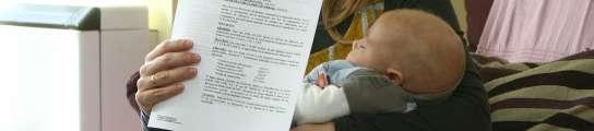 Sin baja de maternidad por las deudas de su empresa con la Seguridad Social  (Imagen: JORGE PARÍS)