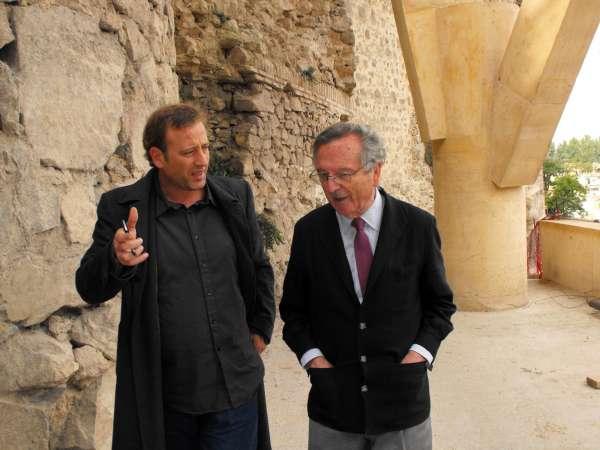 el arquitecto rafael moneo supervisa las obras del palacio de congresos de toledo