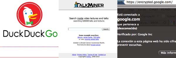 Buscadores alternativos a Google y Bing: especializados, protectores de privacidad...