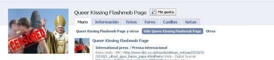 Facebook elimina el grupo que convocaba a gays a besarse delante del Papa en Barcelona  (Imagen: FACEBOOK)