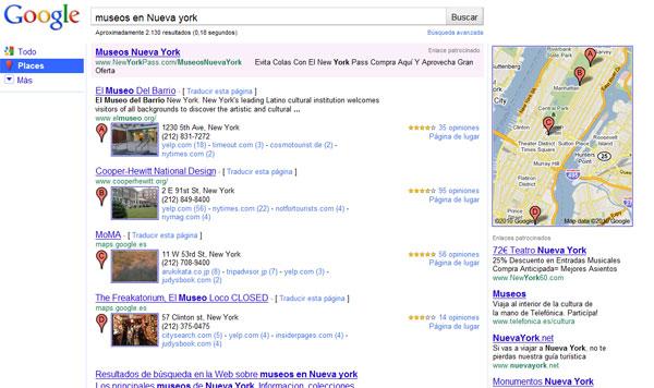 Google perfecciona su nueva herramienta para búsqueda de lugares, 'Place Search'