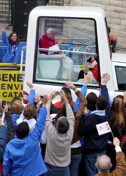 La visita del Papa Benedicto XVI a Barcelona