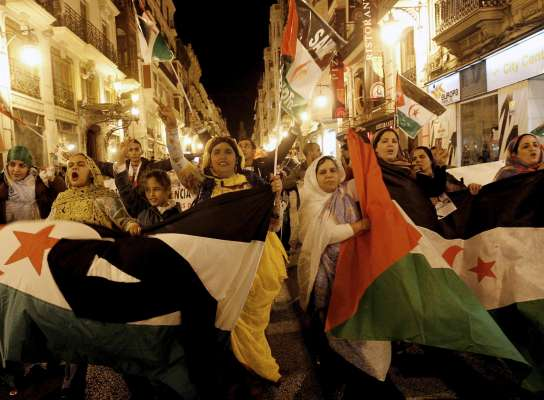 Manifestación pro saharaui