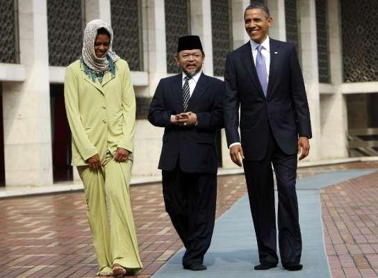 Barack y Michelle Obama, en Yakarta