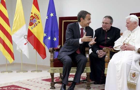 Zapatero, con el papa Benedicto XVI