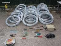 Detenidas dos personas en San Asensio por el robo de cable de cobre