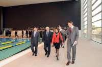 Barreda, Page y María del Pino visitan el Polideportivo Rafael del Pino del Hospital de Parapléjicos de Toledo