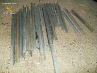 Detenidas dos personas en Viana por robar perfiles metálicos para la colocación de torres eléctricas