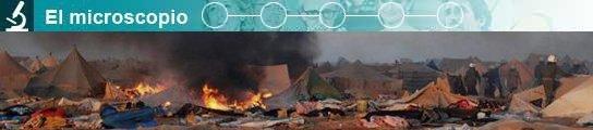 Desmantelamiento del campamento saharaui