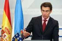 Feijóo inicia con una entrevista con Joaquín Almunia su visita institucional a Bruselas