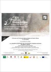 El XIV Festival de Música Antigua de Úbeda y Baeza se inaugura este viernes y ofrecerá 25 conciertos