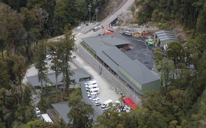 Mineros atrapados en una mina de Nueva Zelanda