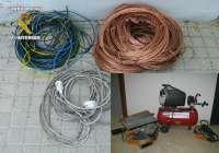 Detenidos 8 hombres en Crevillente por varios robos de herramientas y cable de cobre