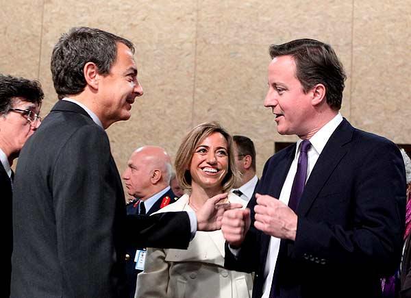 Zapatero y Cameron