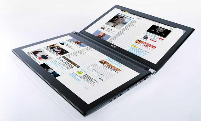Acer presenta un portátil de dos pantallas y sus primeros ordenadores planos
