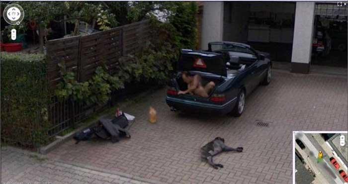 El misterio del hombre desnudo captado por las cámaras de Google Street View