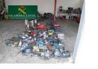 La Guardia Civil interviene efectos valorados en más de 50.000 euros en Mota del Cuervo (Cuenca)