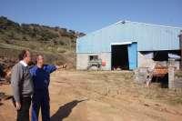 Monago visita la zona afectada por el tornado en Jerez de los Caballeros (Badajoz)
