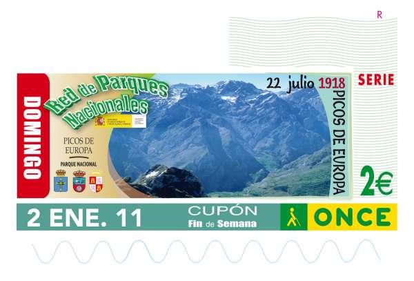 Picos de Europa abre el 2 de enero una serie de cupones de la ONCE