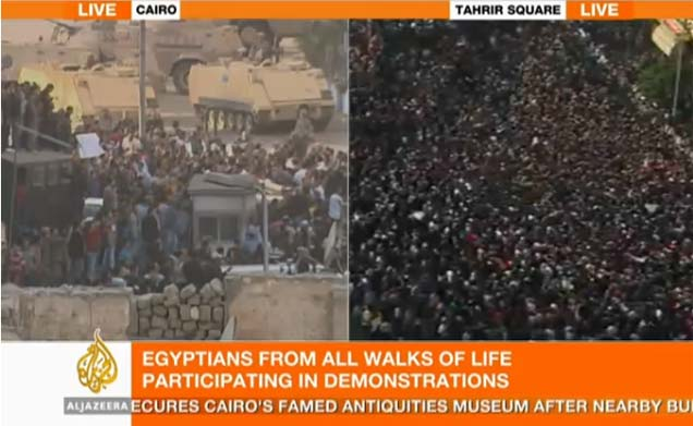 <p>Decenas de manifestantes protestan en Egipto.</p>