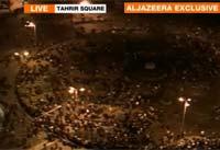 <p>Protestas en la plaza Tahrir.</p>