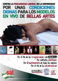 Modelos de la Facultad de Bellas Artes comienzan este miércoles una huelga indefinida contra la