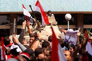 <p>Manifestantes en Tahrir</p>