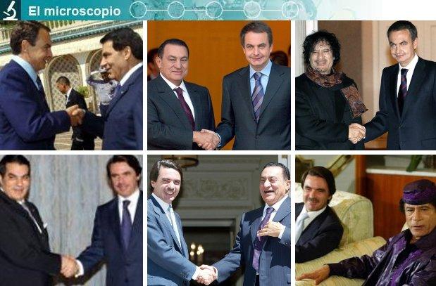 Presidentes españoles con líderes árabes