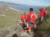 Rescatada una senderista accidentada en el Cabezo de Cope de Águilas (Murcia)