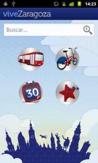 'Vive Zaragoza' permite acceder a información útil para el ciudadano con un teléfono Android