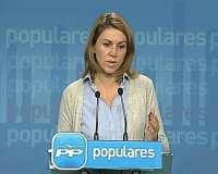 Cospedal dice que no hay fecha cerrada para la proclamación de Camps pero subraya que Rajoy irá en campaña a Valencia