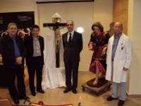 Cultura recupera las tallas del Cristo del Coro de la Merced del siglo XVII y el Ángel Servitas